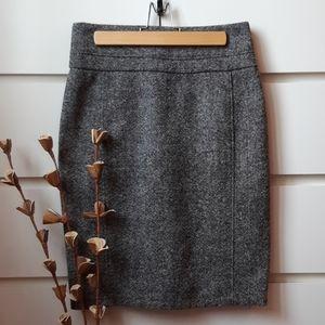 CLUB MONACO Wool Tweed Pencil Skirt